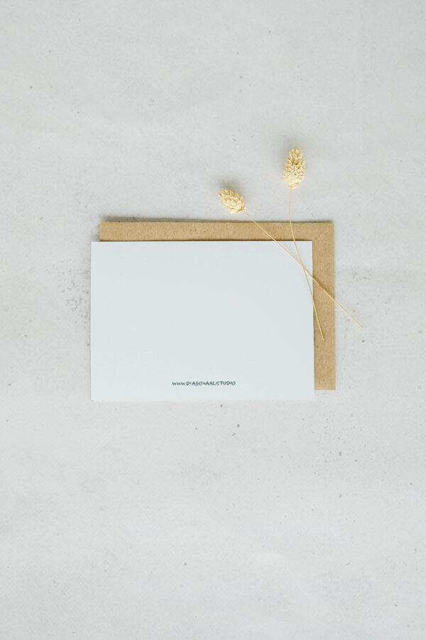 achterzijde wenskaart gerecycleerd papierblanco
