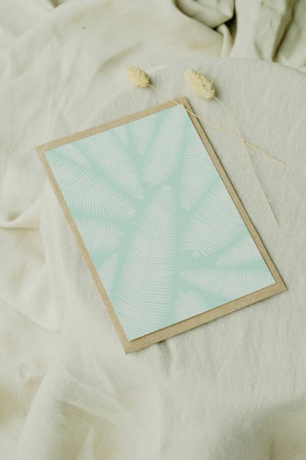 voorzijde wenskaart op gerecycleerd papier