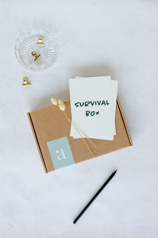 survival box wenskaarten