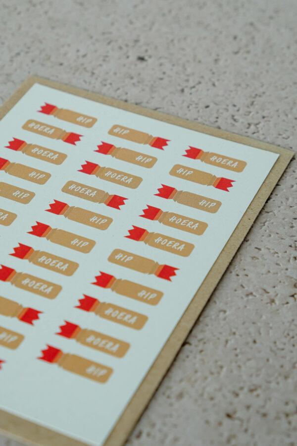 verjaardagskaart op gerecycleerd papier