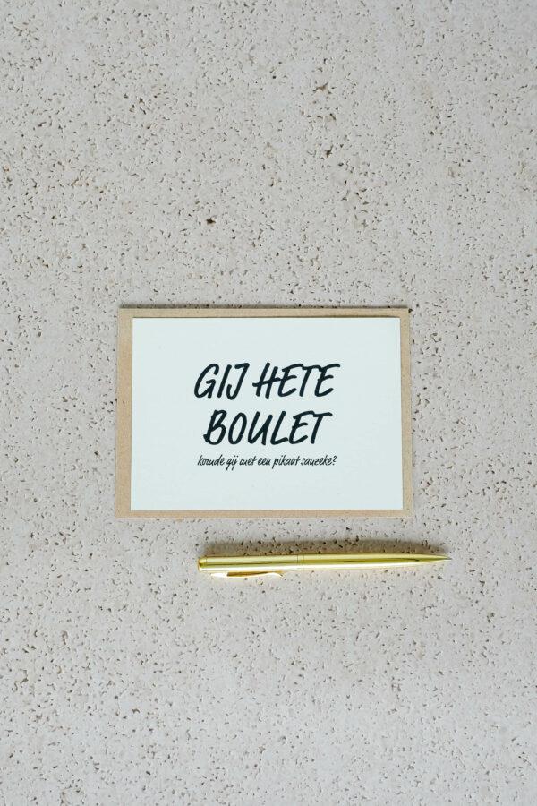 wenskaart op gerecycleerd papier