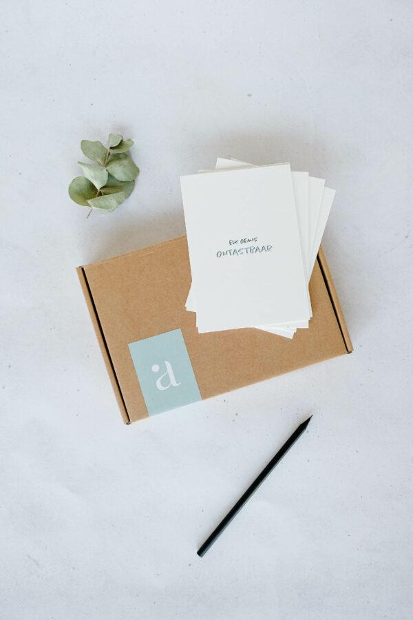 box troostkaarten op papier uit katoenvezels
