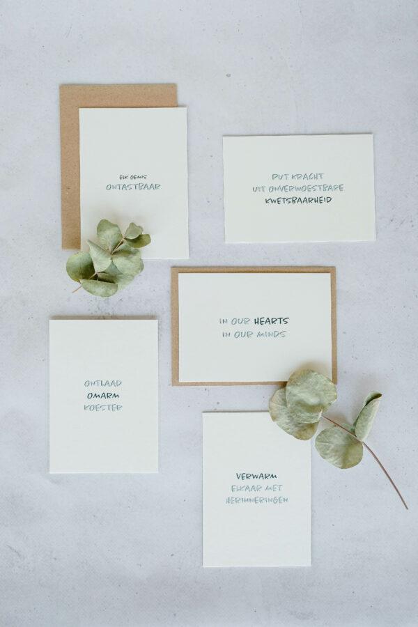 troostkaarten op papier uit katoenvezels